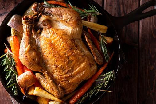 Roasted Chicken in air fryer