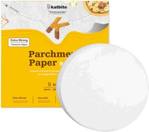 Katbite Round air fryer perforated parchment paper for air fryer