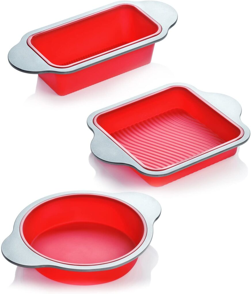 3-Piece Professional Non-Stick Silicone loaf pan