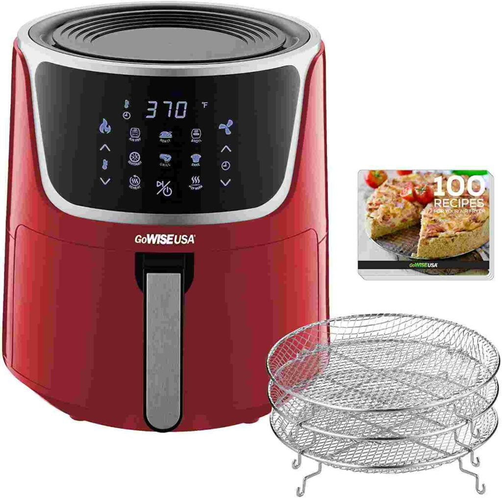 GoWISE USA 7-Quart Electric Air Fryer with Dehydrator