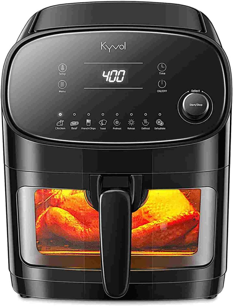 Kyvol Halogen Heating Ceramic Coated Digital Air fryer
