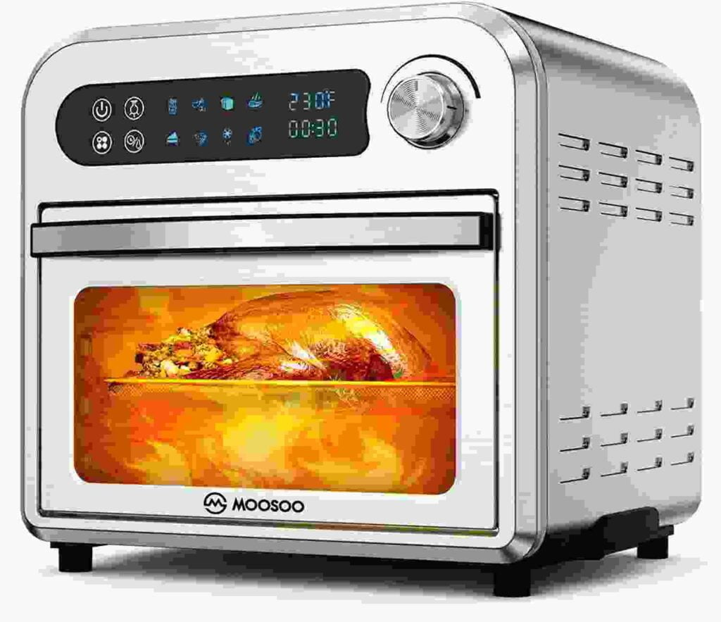 MOOSOO 10.6 QT 8 in 1 Air Fryer Oven For Large Family