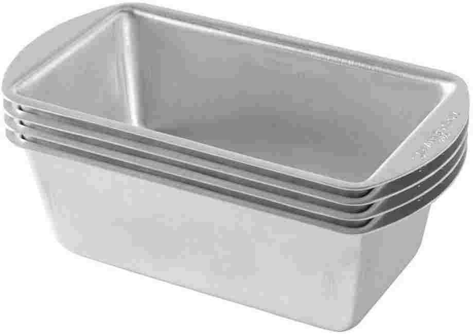 Nordic Ware Natural Aluminum Commercial Mini Loaf Pans For Air fryer