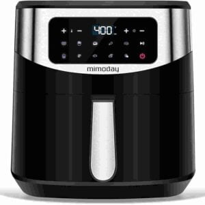 MIMODAY BPA free air fryer with stainless steel basket